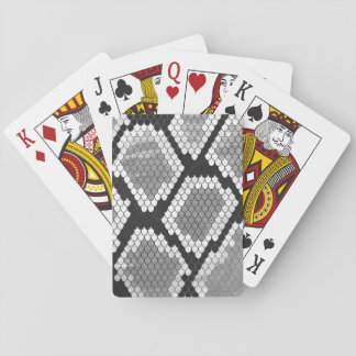 Snake Gray and Light Gray Print Playing Cards