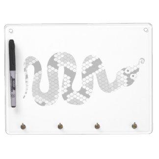 Snake Gray and Light Gray Silhouette Dry-Erase Whiteboard