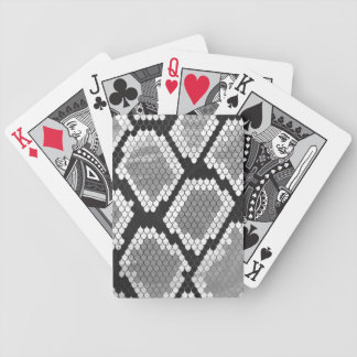 Snake Gray, White and Black Print Bicycle Playing Cards