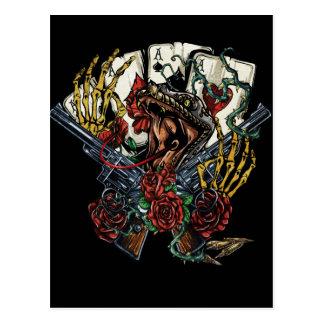 Snake Gun And Roses Poker Cards