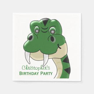 Snake Head Birthday Paper Napkin