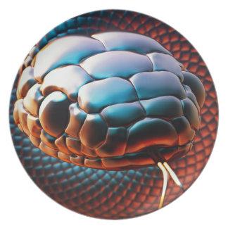 Snake head melamine plate