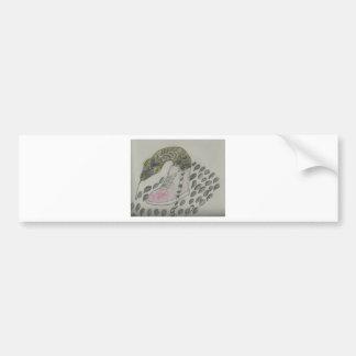 Snake In My Shoe Design Bumper Sticker