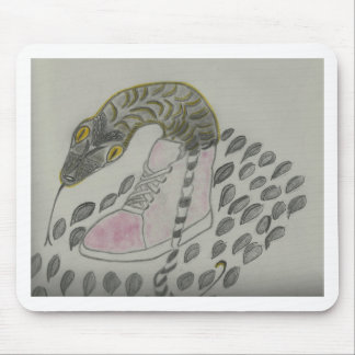 Snake In My Shoe Design Mouse Pad