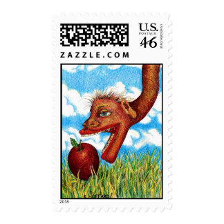 """Snake in the Grass"" Postage Stamps"