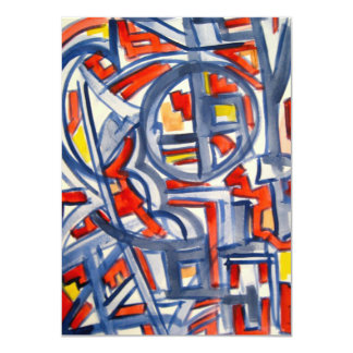 Snake In The Henhouse - Abstract Art Card