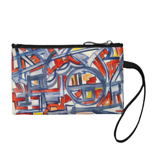 Snake In The Henhouse - Abstract Art Coin Wallet