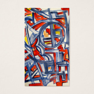 Snake In The Henhouse-Abstract Art Handpainted Business Card