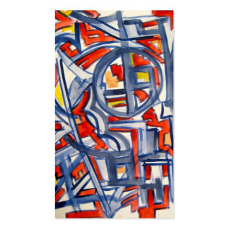 Snake In The Henhouse-Abstract Art Handpainted Double-Sided Standard Business Cards (Pack Of 100)