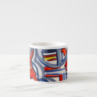 Snake In The Henhouse-Abstract Art Handpainted Espresso Cup