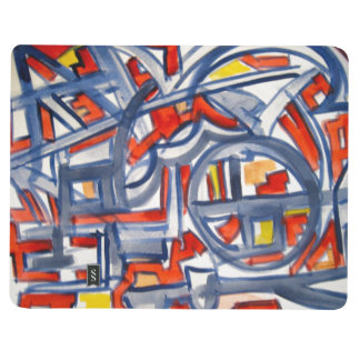 Snake In The Henhouse - Abstract Art Handpainted Journal