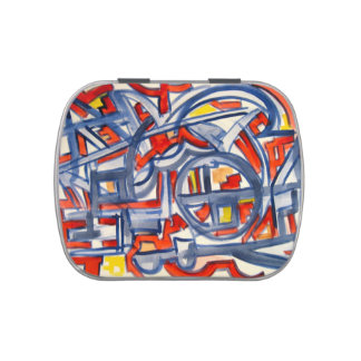 Snake In The Henhouse - Abstract Art Jelly Belly Candy Tin