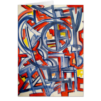 Snake In The Henhouse - Abstract Art Notecard