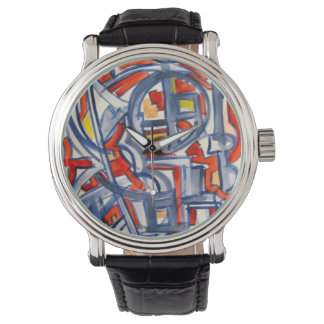 Snake In The Henhouse - Abstract Art Wristwatches