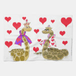 Snake King and Queen of Hearts Kitchen Towel
