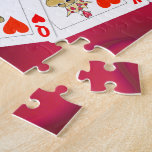 Snake King and Queen of Hearts Playing Cards Jigsaw Puzzle