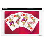 Snake King and Queen of Hearts Playing Cards Decal For Laptop