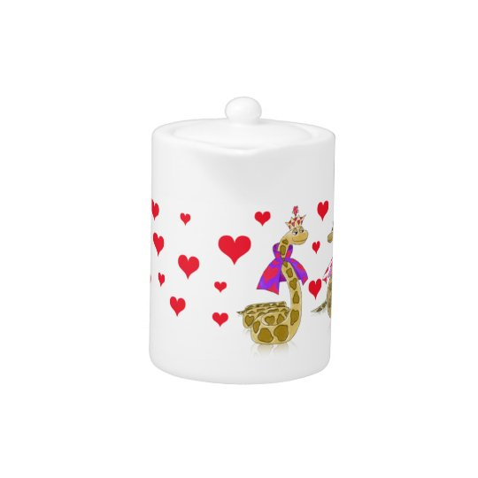 Snake King and Queen of Hearts Teapot
