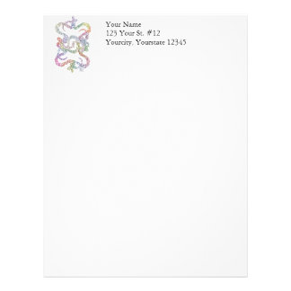 Snake Knot Color Psychedelic Letterhead