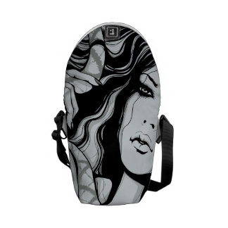 Snake Lady Courier Bag