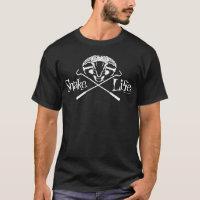 Snake Life Screaming Cobra with Crossed Hooks T-Shirt