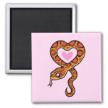 Snake Love 2 Inch Square Magnet