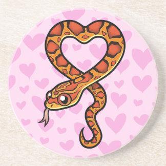 Snake Love Beverage Coasters