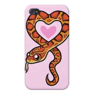Snake Love iPhone 4/4S Cases