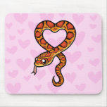 Snake Love Mouse Pad