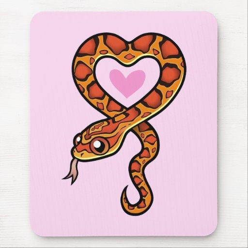 Snake Love Mousepad