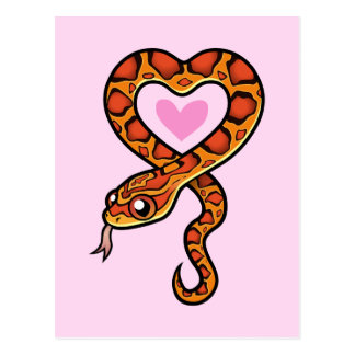 Snake Love Postcard