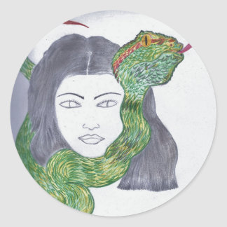 Snake Love Products Classic Round Sticker