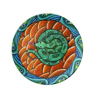 Snake Mandala Porcelain Plate
