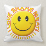 Snake Meat Smile Pillow