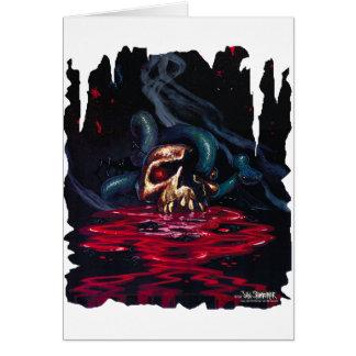 snake n skull greeting card