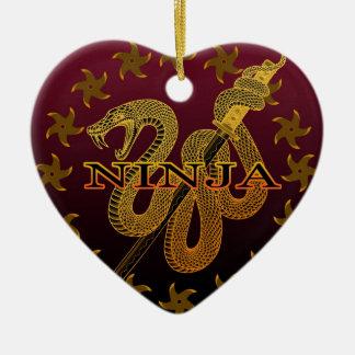 Snake Ninja 02 Ceramic Ornament