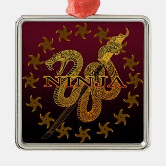 Snake Ninja 02 Metal Ornament