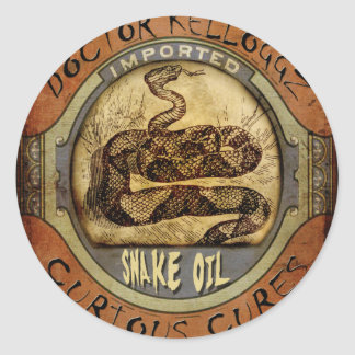 Snake Oil Classic Round Sticker