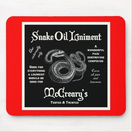 Snake Oil Liniment Mousepad
