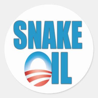 Snake Oil (Obama) Classic Round Sticker