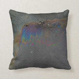 Snake oil slick skin by ilya konyukhov (c) throw pillow