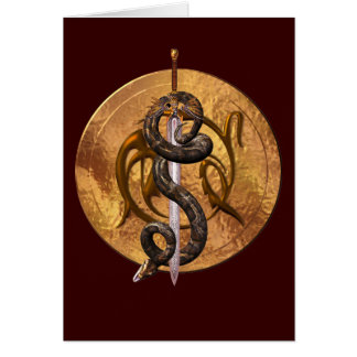 Snake on a Sword Card