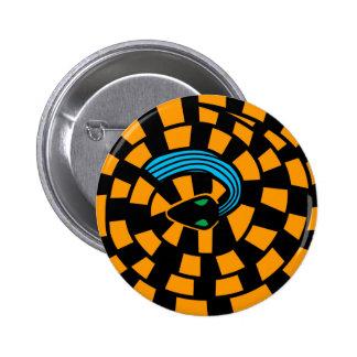 Snake - Optical Illusion (golden) Button
