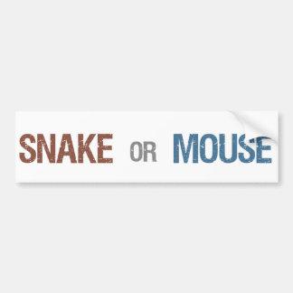 Snake or Mouse Bumper Sticker