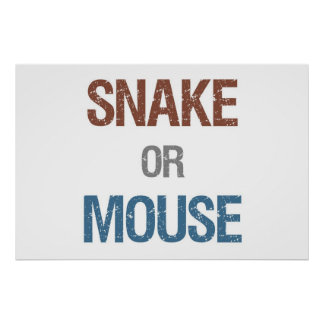 """Snake or Mouse Poster 36"""" x 24"""""""