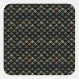 Snake Pattern Square Sticker