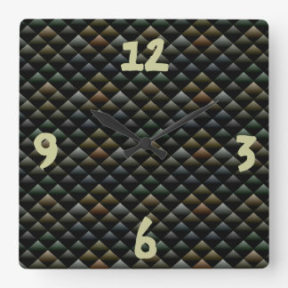 Snake Pattern Square Wall Clock