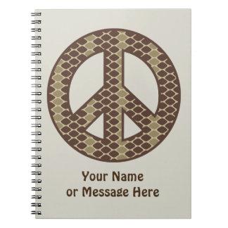 Snake Peace Symbol Journals