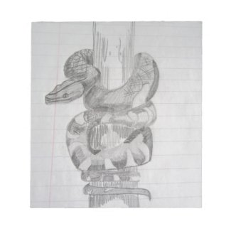 Snake Pencil Drawing Notepads