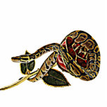 "Snake photo sculpture python<br><div class=""desc"">A Ball Python Snake curled around a red and gold Rose photo sculpture for Snake lovers.dangerous beauty collection. gift idea.</div>"